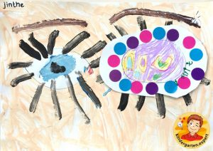 Making an eye patch in kindergarten 2, eye theme, kindergarten expert
