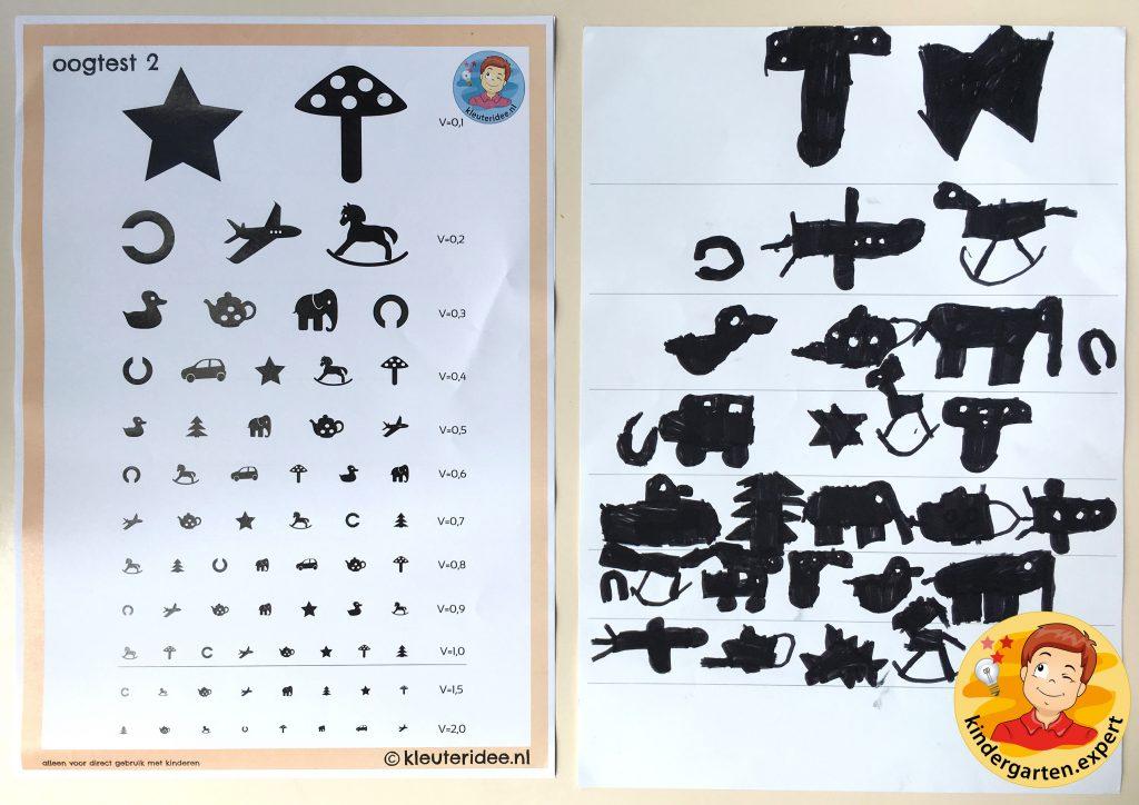 Making an eye test in kindergarten 2, eye theme, kindergarten expert
