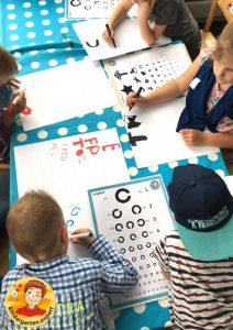 Making an eye test in kindergarten 3, eye theme, kindergarten expert