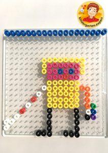 Blind men with Hama beads, eye theme, kindergarten expert