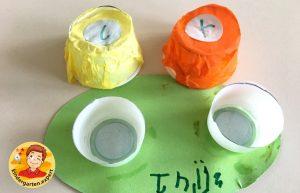Contact lens case craft 1, eye theme, kindergarten expert