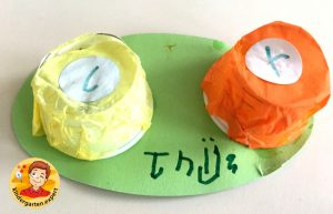 Contact lens case craft 2, eye theme, kindergarten expert