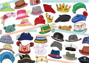Hats, free printable, eye theme, kindergarten expert