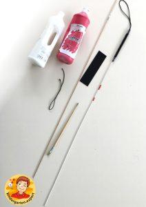 Making a white cane 1, eye theme, kindergarten expert