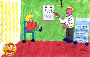 Optician craft 1, eye theme, kindergarten expert
