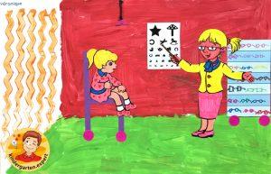 Optician craft 4, eye theme, kindergarten expert