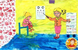 Optician craft 6, eye theme, kindergarten expert