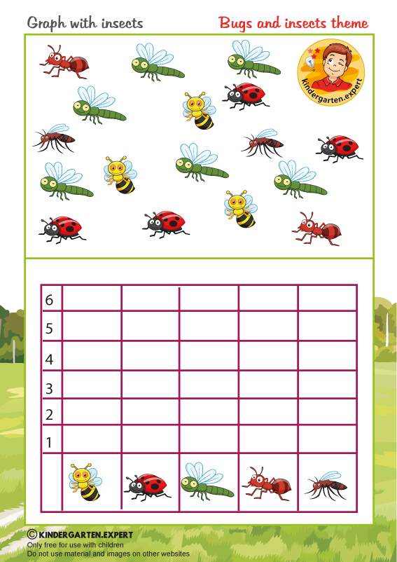 Bugs And Insects Kindergarten Expert - View Insect Activity Insects Worksheets For Kindergarten Background