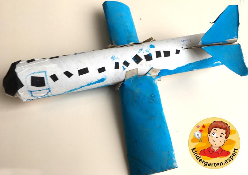 Airplane with engines craft, airport theme, kindergarten expert 1