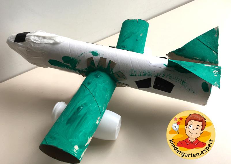 Airplane with engines craft, airport theme, kindergarten expert 3