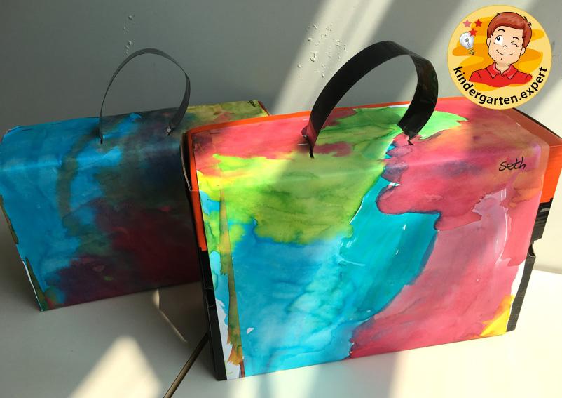 Making a suitcase, airport theme, kindergarten expert