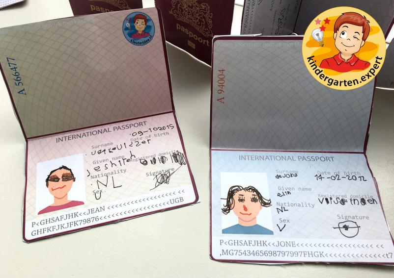 Passport craft, airport theme, kindergarten expert 2