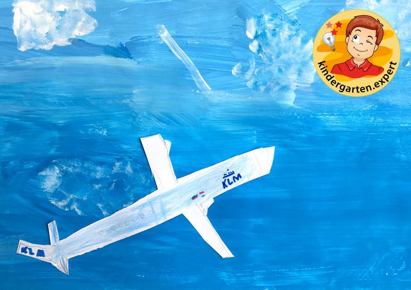 Plane collage, airport theme, kindergarten expert 1