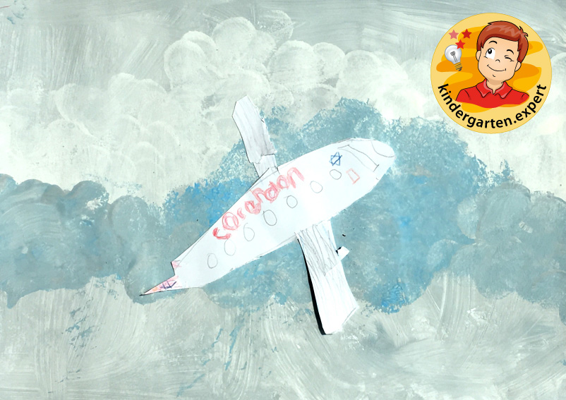 Plane collage, airport theme, kindergarten expert 3