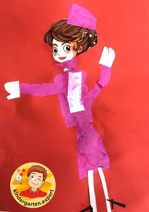 Stewardess craft, airport theme, kindergarten expert 2
