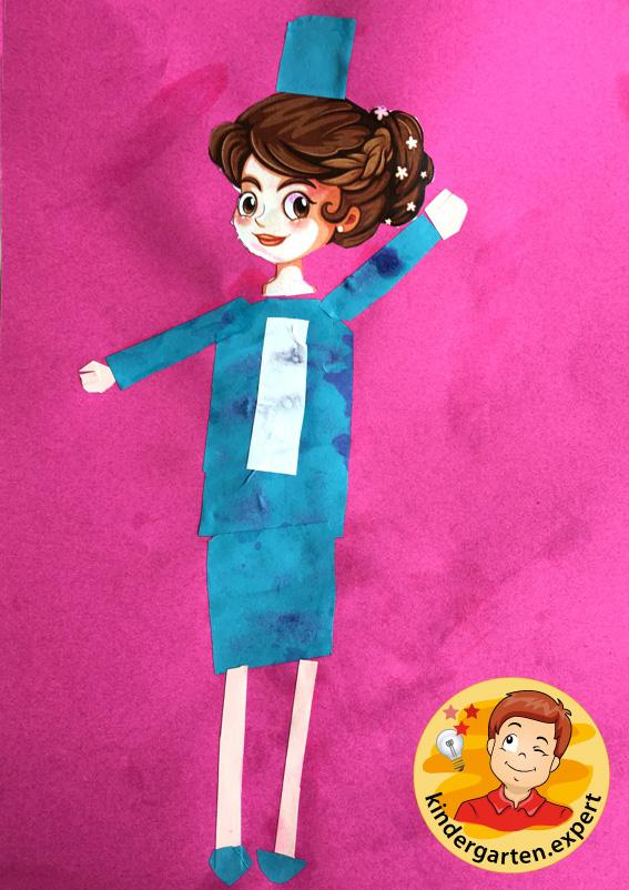 Stewardess craft, airport theme, kindergarten expert 5